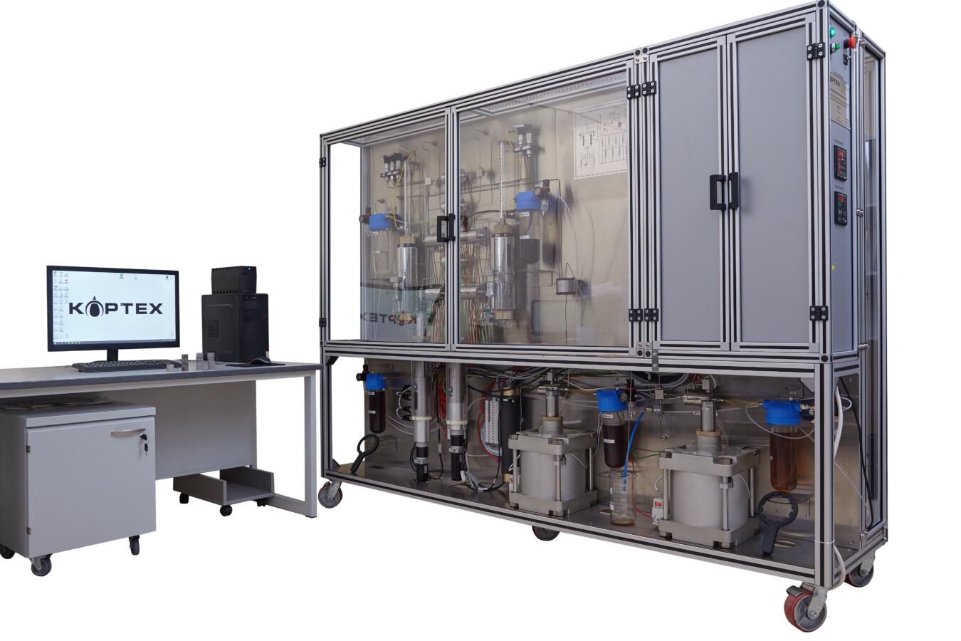 Установка для восстановления естественной смачиваемости и определения остаточной нефтенасыщенности