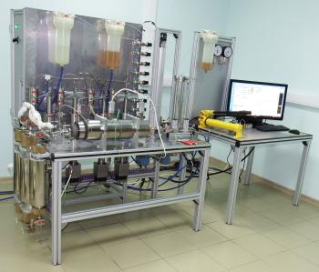 Система моделирования пласта для исследования фильтрационно-емкостных свойств керна при двухфазной фильтрации