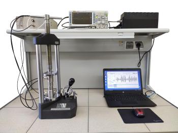 Прибор для изучения акустических свойств горных пород в атмосферных условиях