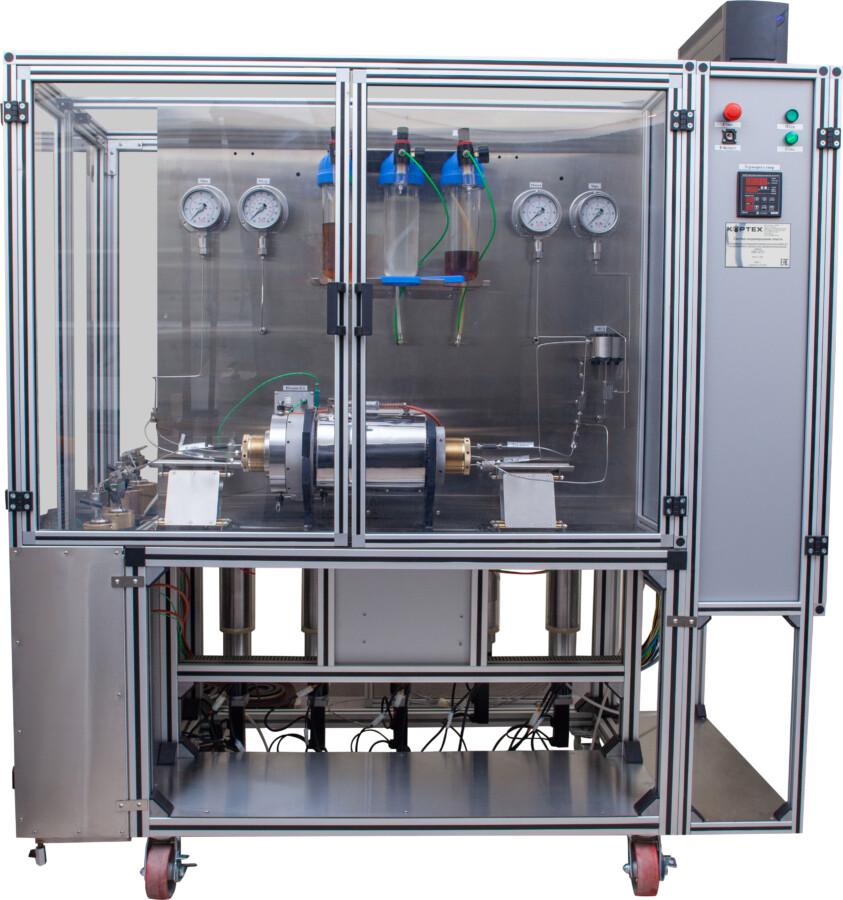 Система для изучения воздействия химических составов на фильтрационные свойства трещины при кистлотном ГРП